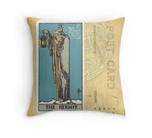 The Hermit Tarot Card Fortune Teller Throw Pillow
