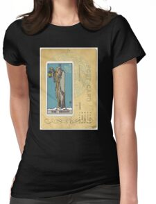 The Hermit Tarot Card Fortune Teller Womens Fitted T-Shirt