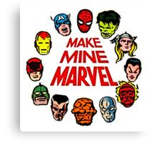 Favorite Comic Book Super Heroes Canvas Print