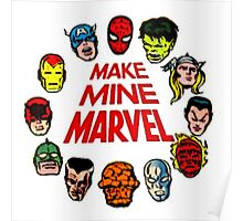 Favorite Comic Book Super Heroes Poster