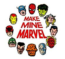 Favorite Comic Book Super Heroes Photographic Print