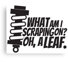 What am I scraping on? Canvas Print