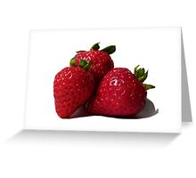 Mouthwatering Strawberries  Greeting Card