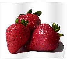 Mouthwatering Strawberries  Poster