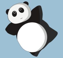 Cute Flying Panda by Fiona Reeves