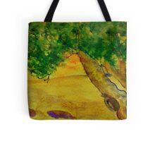 The Climbing  Tree, watercolor Tote Bag