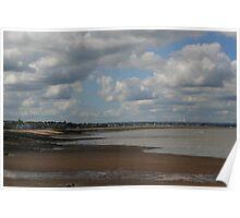 Whitstable Beach towards The Neptune Poster