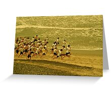 Running With the Wind Greeting Card