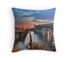Bridge to Englewood Throw Pillow