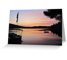 Serenity is a Boat on a Lake in Maine Greeting Card