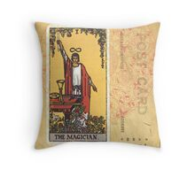 The Magician Tarot Card Fortune Teller Throw Pillow