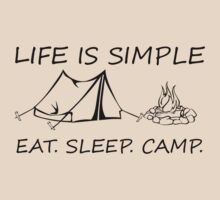 Eat. Sleep. Camp. by SwazzleSwazz