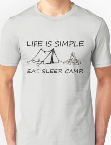 Eat. Sleep. Camp. T-Shirt
