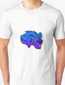 Three Eyed Wolf; Blue Unisex T-Shirt