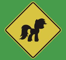 Pony Traffic Sign - Diamond One Piece - Short Sleeve