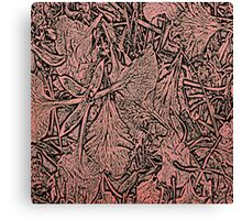 Flower Petals #1 in Black & Red Canvas Print