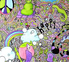 Happy Doodle Dream World by triciaanne