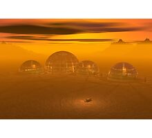 Domed city on an alien planet Photographic Print
