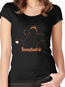 Timmyland weed leaf orange Women's Fitted Scoop T-Shirt