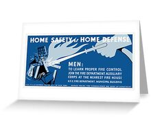 Home Safety Is Home Defense -- WPA Greeting Card
