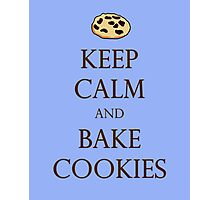 Blue Keep Calm and Bake Cookies Photographic Print