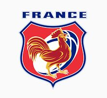rooster cockerel france rugby shield T-Shirt