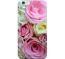 Pink and white roses floral bouquet iPhone Case/Skin