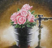 Tub Of Roses by Neogola