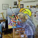 At the easel by Karin Zeller