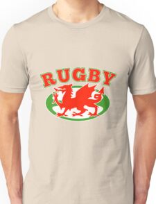 Welsh dragon rugby ball Wales Flag Unisex T-Shirt
