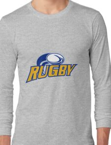 rugby ball flying Long Sleeve T-Shirt
