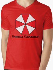 Umbrella Corporation Mens V-Neck T-Shirt
