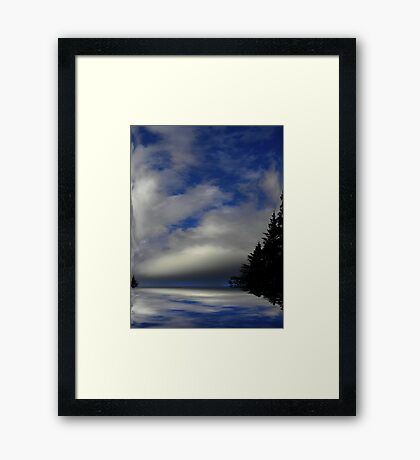 Where Earth Meets Sky ! Framed Print