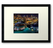 Seattle from Pier 66 Framed Print