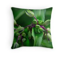 Purple Necks Throw Pillow