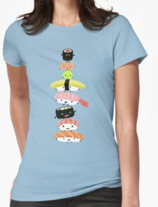 Sushi Stack Womens Fitted T-Shirt