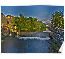 Gristmill On the Little Pigeon (HDR) Poster