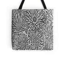 Flowers #8 In Black & White Tote Bag