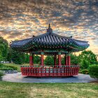 Sunset Pagoda by Mari  Wirta