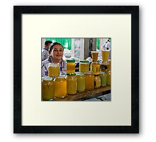 Honey seller Framed Print