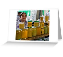 Honey seller Greeting Card