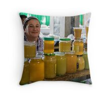 Honey seller Throw Pillow