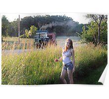 Farm Girl at Heart Poster