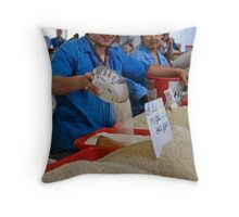 Rice man Throw Pillow