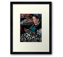 Quail eggs and technology Framed Print