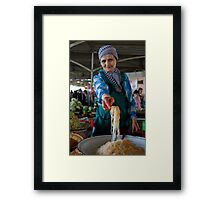 Pickled salad lady Framed Print