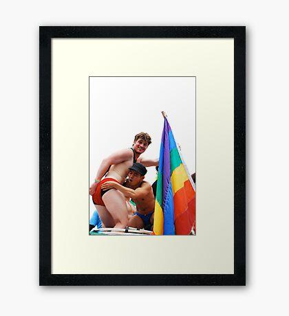 Boys just wanta have  fun Framed Print