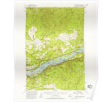 USGS Topo Map Washington Bridal Veil 240223 1954 62500 Poster