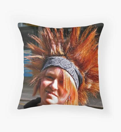 Faces of Adelaide  Throw Pillow