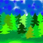 forrest panorama by rainbowvortex
